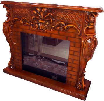 FIREPLACE DECORATION BROWN